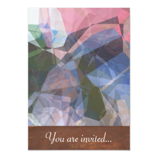 Polígono abstratos 86 convite 12.7 x 17.78cm
