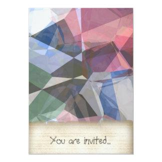 Polígono abstratos 90 convite 12.7 x 17.78cm