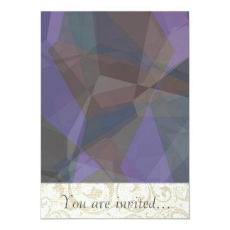 Polígono abstratos 93 convite 12.7 x 17.78cm