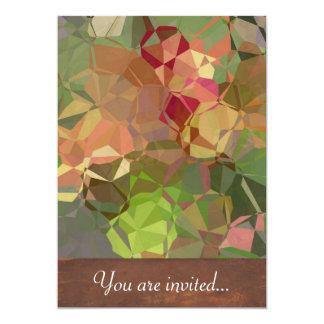 Polígono abstratos 94 convite 12.7 x 17.78cm