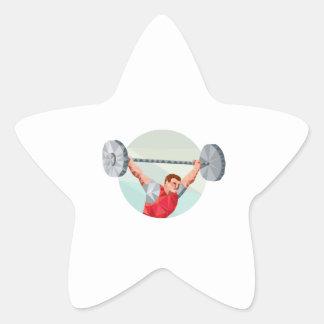 Polígono de levantamento do círculo do Barbell do Adesivos Estrelas