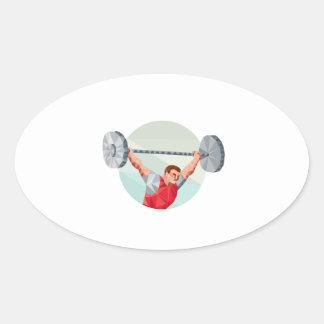Polígono de levantamento do círculo do Barbell do Adesivos Oval