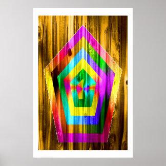 Polígono do arco-íris poster