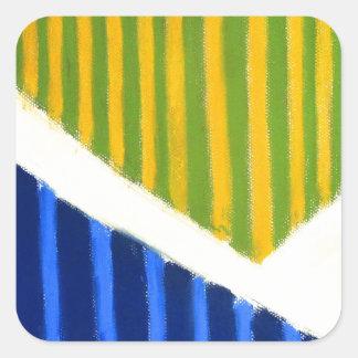 Polígono listrados (expressionism geométrico) adesivo quadrado