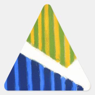 Polígono listrados (expressionism geométrico) adesivo em forma de triângulo
