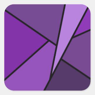 Polígono roxos abstratos adesivos quadrados