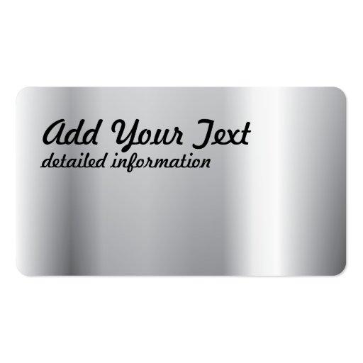Polimento de prata cartao de visita