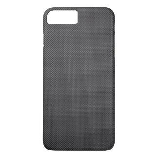 Polímero preto e cinzento da fibra do carbono capa iPhone 7 plus
