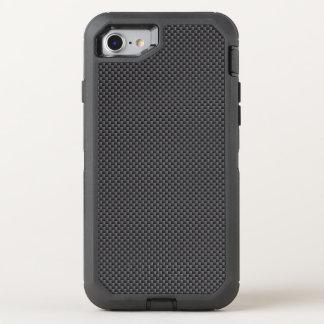 Polímero preto e cinzento da fibra do carbono capa para iPhone 7 OtterBox defender