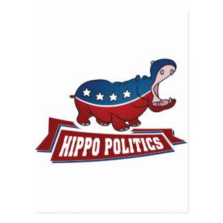 Política do hipopótamo cartão postal