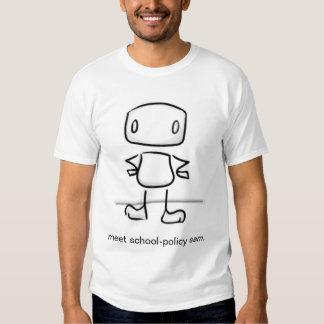 Política Sam da escola da reunião T-shirt