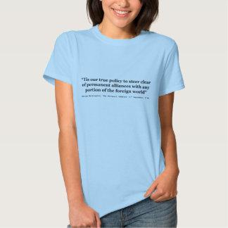 Política verdadeira a dirigir claramente de t-shirts