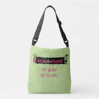 Político cor-de-rosa do limão meu corpo minha bolsa ajustável