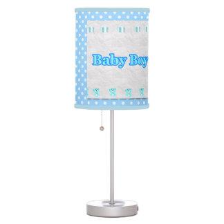 polk azul uma lâmpada do berçário do bebé do ponto