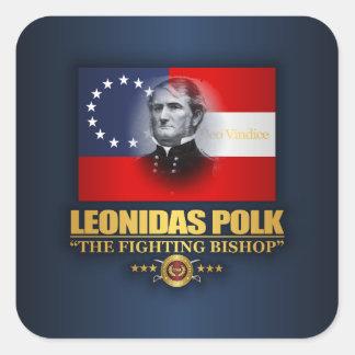 Polk (patriota do sul) adesivo quadrado