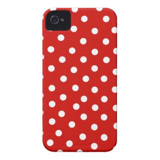 polkadot branco vermelho capinhas iPhone 4