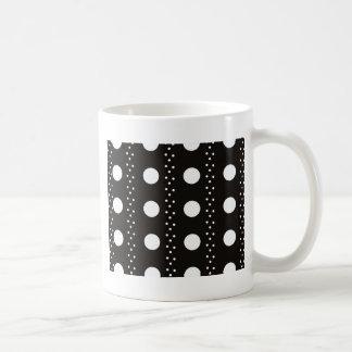 Polkadots preto e branco caneca de café