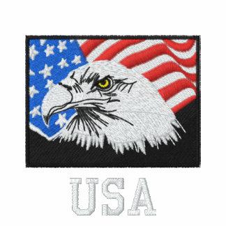 Pólo americano da águia americana dos EUA Camiseta Bordada Polo
