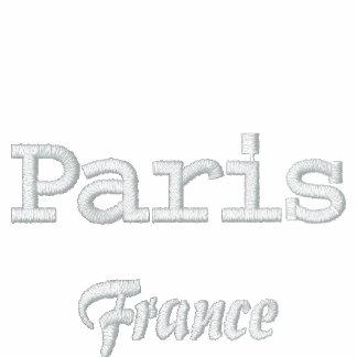 Pólo de Paris France Camiseta Bordada Polo
