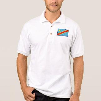 Polo do golfe da bandeira de Congo Kinshasa