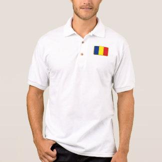 Polo do golfe da bandeira de Romania