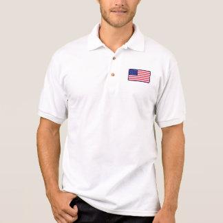 Polo do golfe da bandeira dos EUA