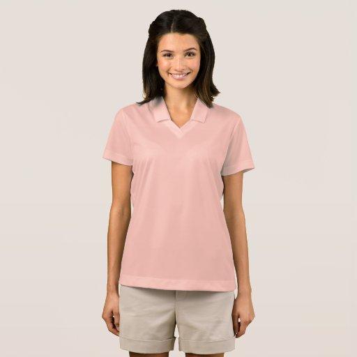 Camisa Polo Feminina Nike Dri-FIT Pique, Alumínio Rosa