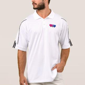 Pólo dos corações do orgulho do Bisexuality Camisa Polo