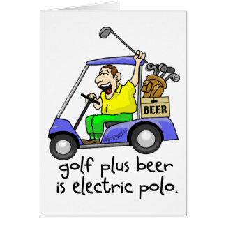 Polo elétrico cartão comemorativo