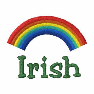 Pólo irlandês bordado do arco-íris