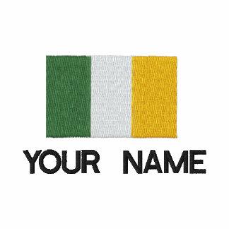 Pólo irlandês bordado personalizado da bandeira polo