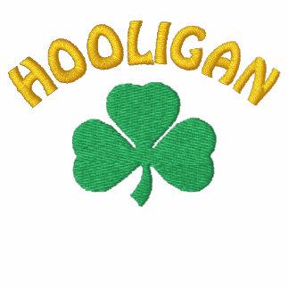 Pólo irlandês do preto do hooligan