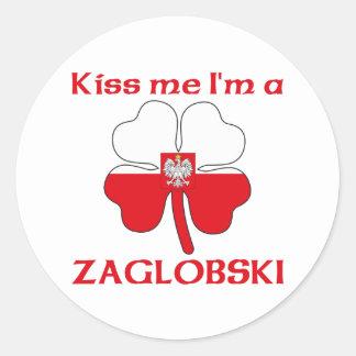 Polonêis personalizados beijam-me que eu sou adesivo redondo