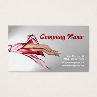 Polonês das mãos do especialista do cartão de visitas