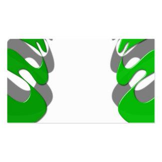 Polonês verde cartão de visita