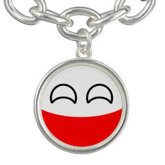 Polônia Geeky de tensão engraçado Countryball Bracelete