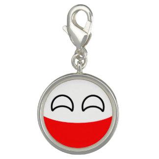Polônia Geeky de tensão engraçado Countryball Photo Charm