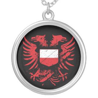 Polônia Grunged Colar Banhado A Prata