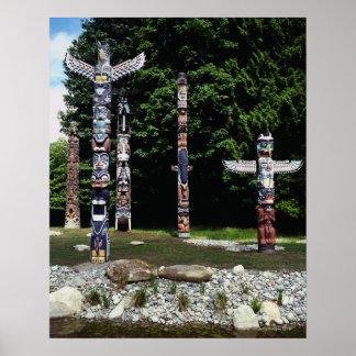 Pólos de Totem, Vancôver, Colômbia britânica Poster