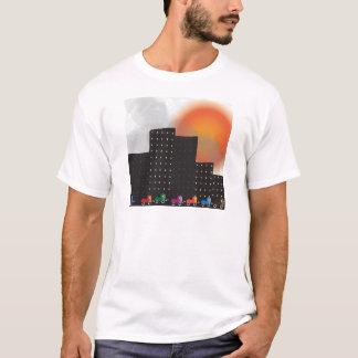 Poluição atmosférica da selva e embaçamento camiseta