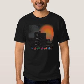 Poluição atmosférica da selva e embaçamento t-shirt