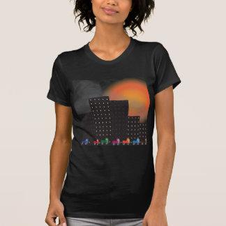 Poluição atmosférica da selva e embaçamento t-shirts
