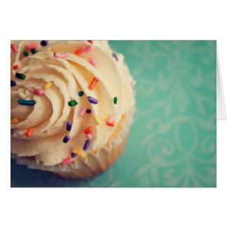 Polvilha o cartão do cupcake