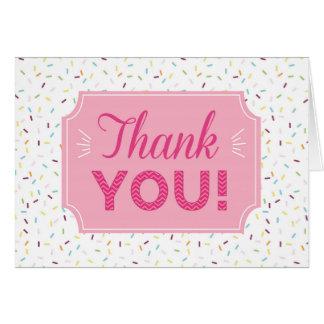 Polvilhe cartões de agradecimentos
