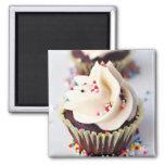 Polvilhe cupcakes ímã quadrado