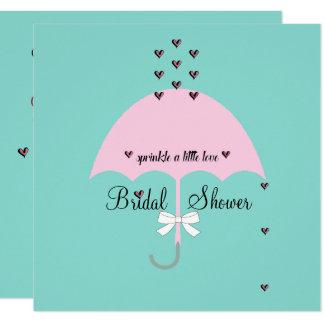Polvilhe o cartão azul & cor-de-rosa da cerceta de