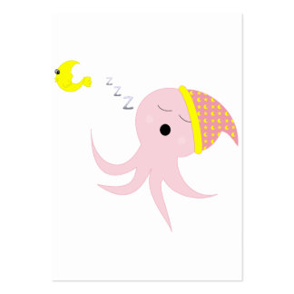 Polvo cor-de-rosa do sono cartão de visita grande