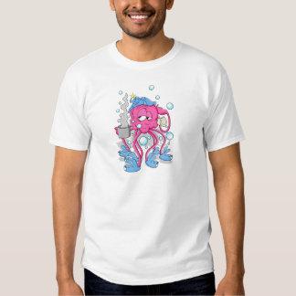 Polvo engraçado dos desenhos animados t-shirts