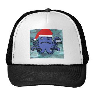 Polvo que veste o chapéu do papai noel boné