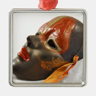 Pomar da máscara ornamento quadrado cor prata